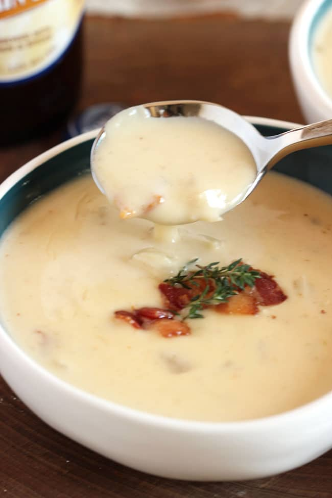 Smoked Cheddar and Pumpkin Beer Soup | The Suburban Soapbox