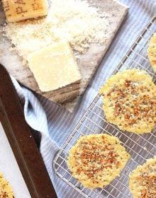 Two-Ingredient Everything Parmesan Crisp | The Suburban Soapbox