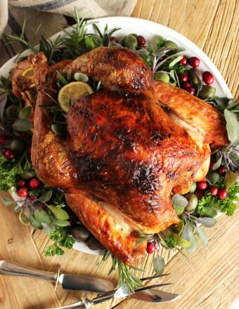 Citrus and Herb Butter Roasted Turkey   The Suburban Soapbox #thanksgiving #turkey