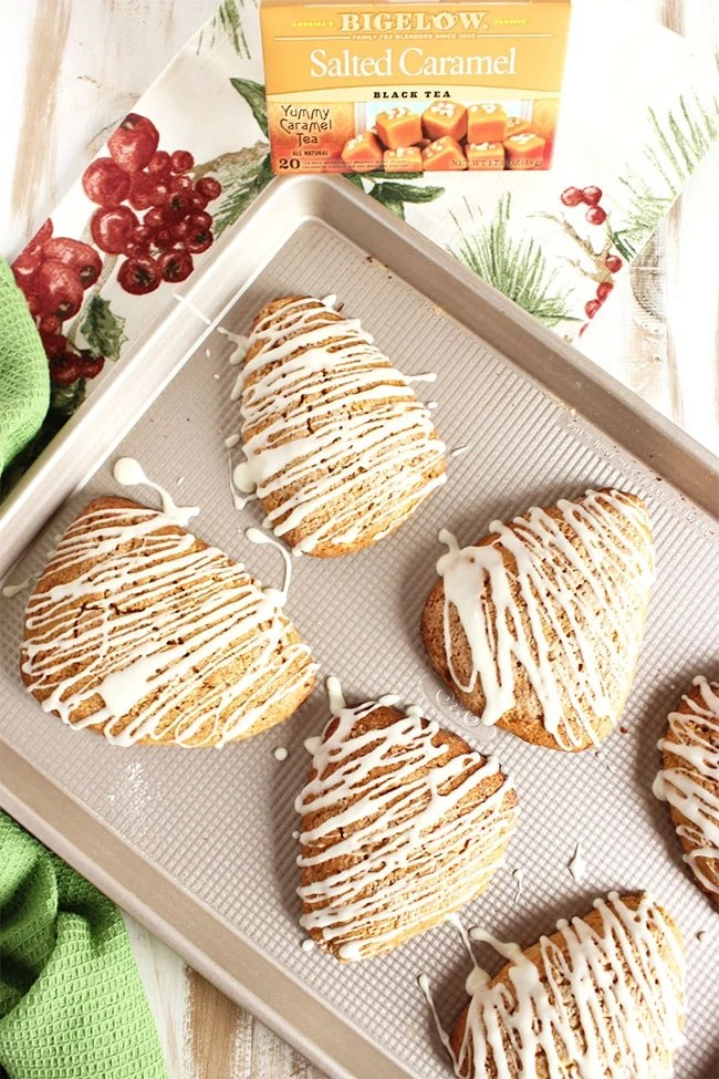 Gingerbread Scones with Eggnog Glaze | The Suburban Soapbox #MeandMyTea