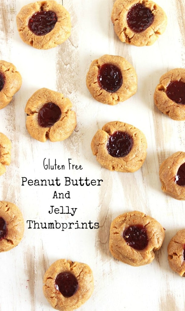 Gluten Free Peanut Butter and Jelly Thumbprint Cookies | The Suburban Soapbox