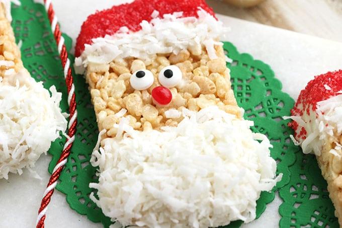 Rice Krispie Treats Christmas Tree.Santa Rice Krispie Treats