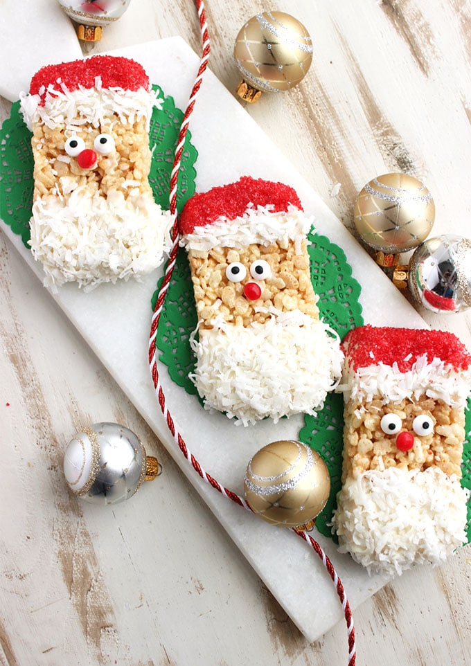 Rice Crispy Treat Christmas.Santa Rice Krispie Treats