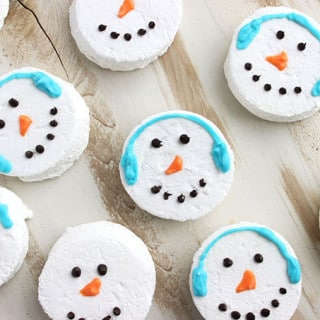 Snowman marshmallow cocoa toppers.