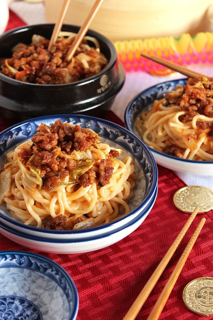 Spicy Dan Dan Noodles | TheSuburbanSoapbox.com #FrozenFromScratch
