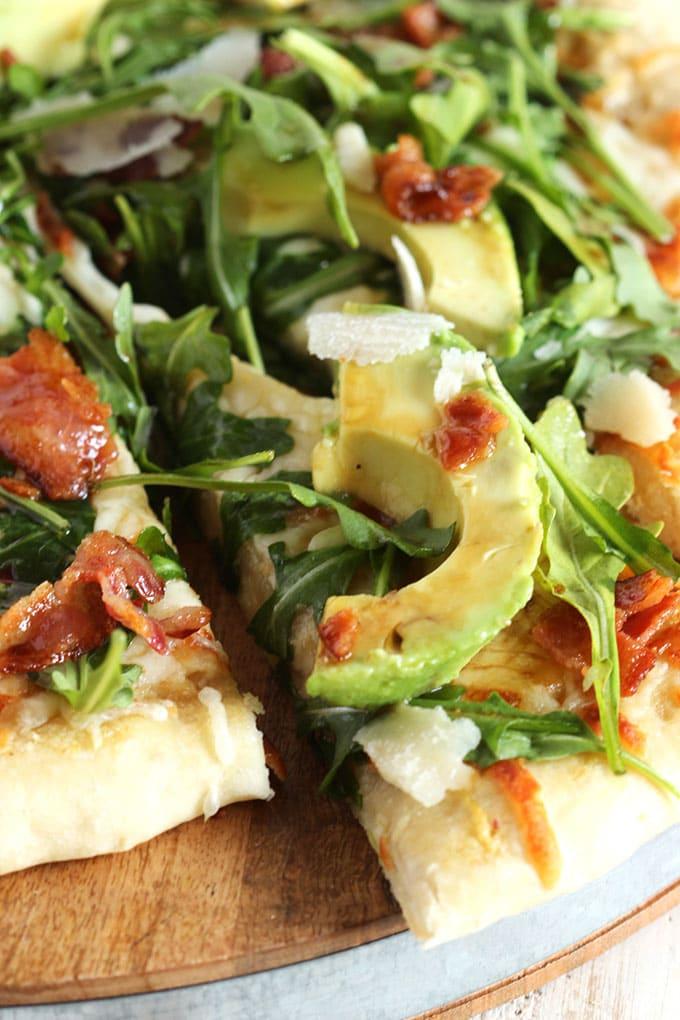 California Club Pizza with Honey Balsamic Vinaigrette | TheSuburbanSoapbox.com