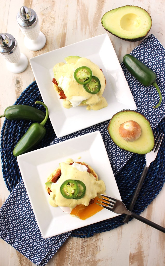 Southwestern Eggs Benedict with Jalapeño Hollandaise | TheSuburbanSoapbox.com