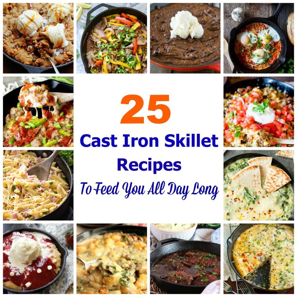 Cast Iron Skillet Collage