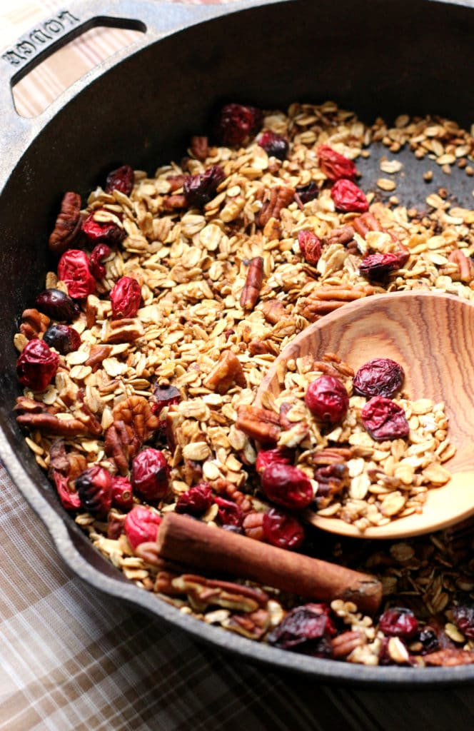 Cranberry-Pecan-Spiced-Skillet-Granola-Strength and Sunshine