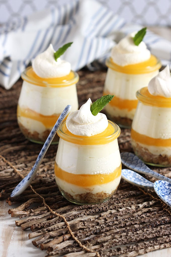 Lemon Meringue Cheesecake Parfaits | TheSuburbanSoapbox.com  #MomsDayTreats