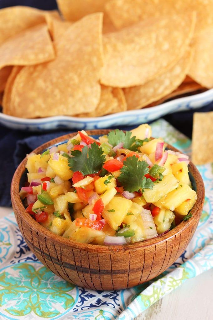 Easy Pineapple Salsa | TheSuburbanSoapbox.com
