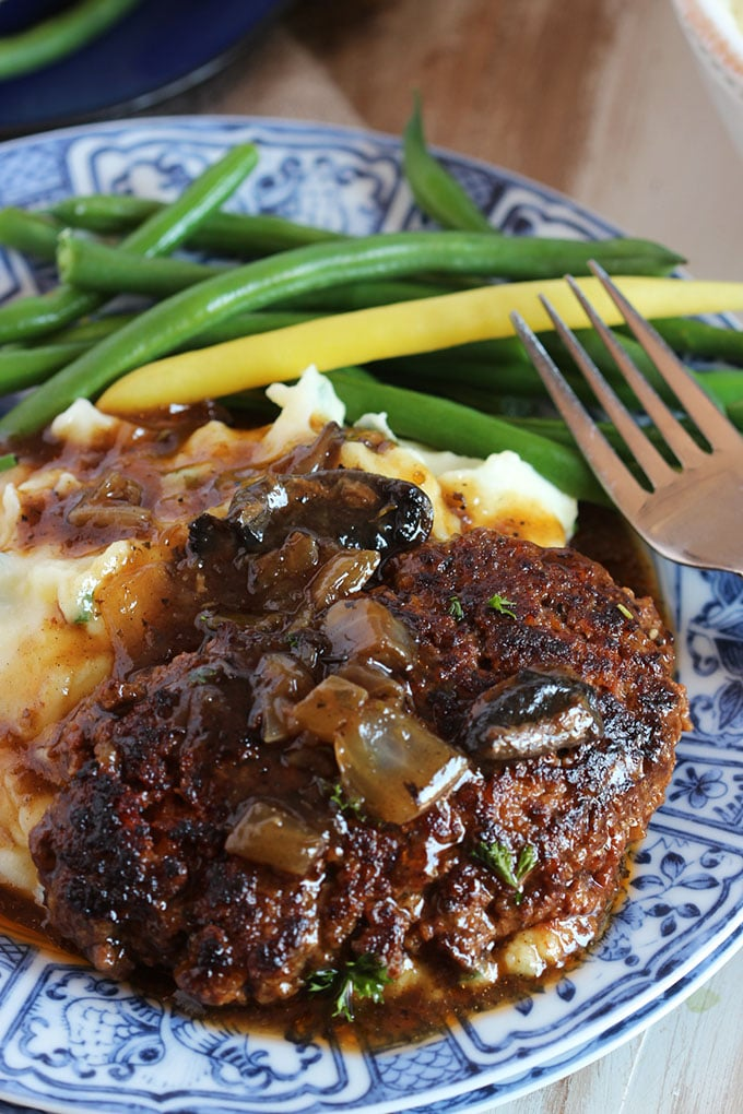 The Very Best Salisbury Steak Recipe | TheSuburbanSoapbox.com