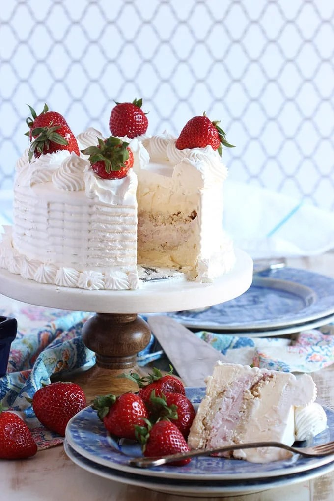 Strawberry Ice Cream Cake 9