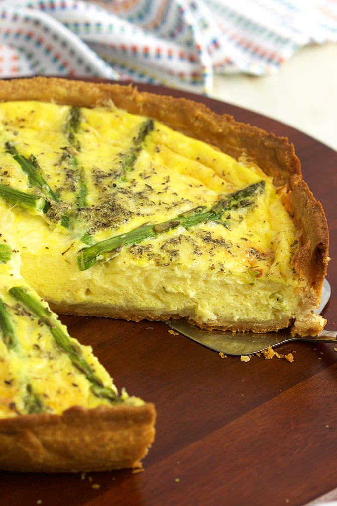 Asparagus and Gruyere Quiche | TheSuburbanSoapbox.com