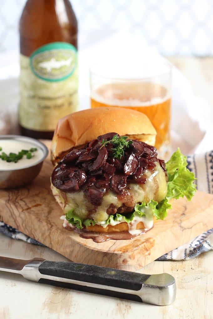 Beef Bourguinon Burger with Horseradish Creme Fraiche | TheSuburbanSoapbox.com #BurgerMonth2016