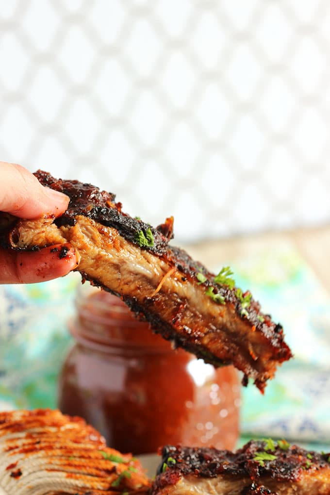 Spicy Grilled Barbecue Ribs | TheSuburbanSoapbox.com