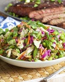 Easy Asian Style Coleslaw | TheSuburbanSoapbox.com #madewithkitchenaid