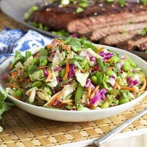 Easy Asian Style Coleslaw   TheSuburbanSoapbox.com #madewithkitchenaid
