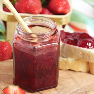 Super easy Strawberry Jam recipe made completely from scratch with just 3 ingredients!