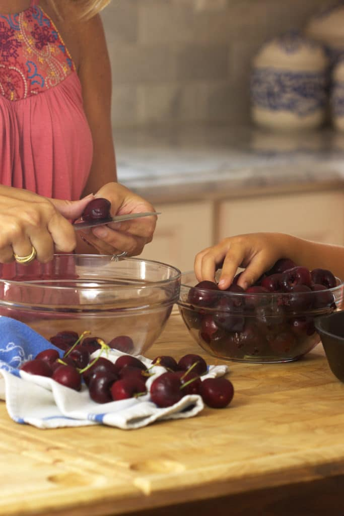 Super simple Cherry Clafouti requires just minutes of hands on time and is the perfect summer dessert from TheSuburbanSoapbox.com.
