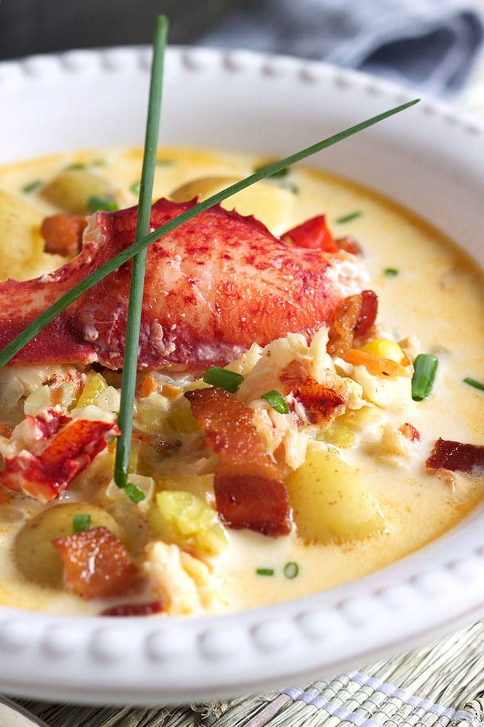 Summer in a bowl, this easy Lobster Corn Chowder is simple and amazing from The Suburban Soapbox.
