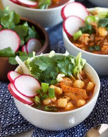 Easy Pork Pozole Rojo Recipe | Thesuburbansoapbox.com