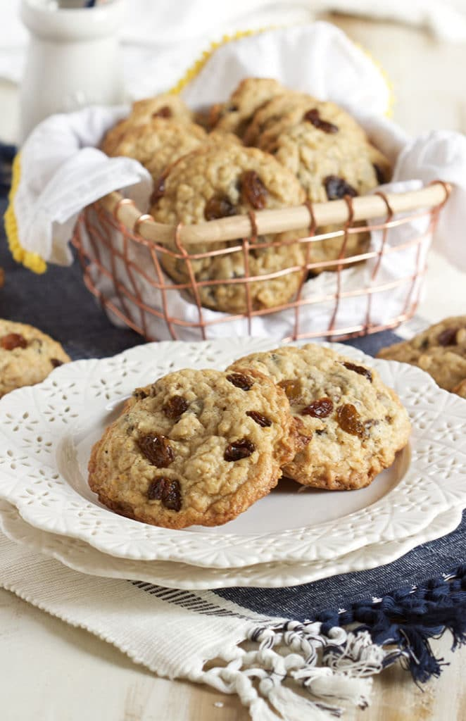Soft and chewy inside, crispy on the outside, this is the BEST Oatmeal Raisin Cookies recipe ever. | TheSuburbanSoapbox.com