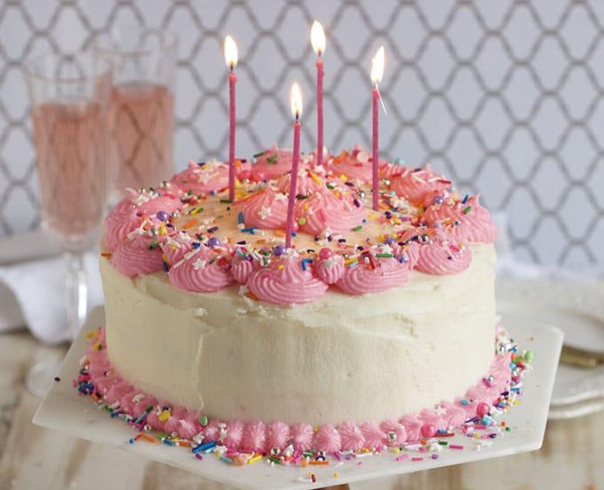 Swell Pink Champagne Cake Recipe The Suburban Soapbox Funny Birthday Cards Online Hetedamsfinfo