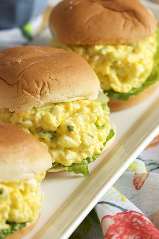 Super easy to make, this is the Very Best Egg Salad recipe. Perfect every time.   Thesuburbansoapbox.com