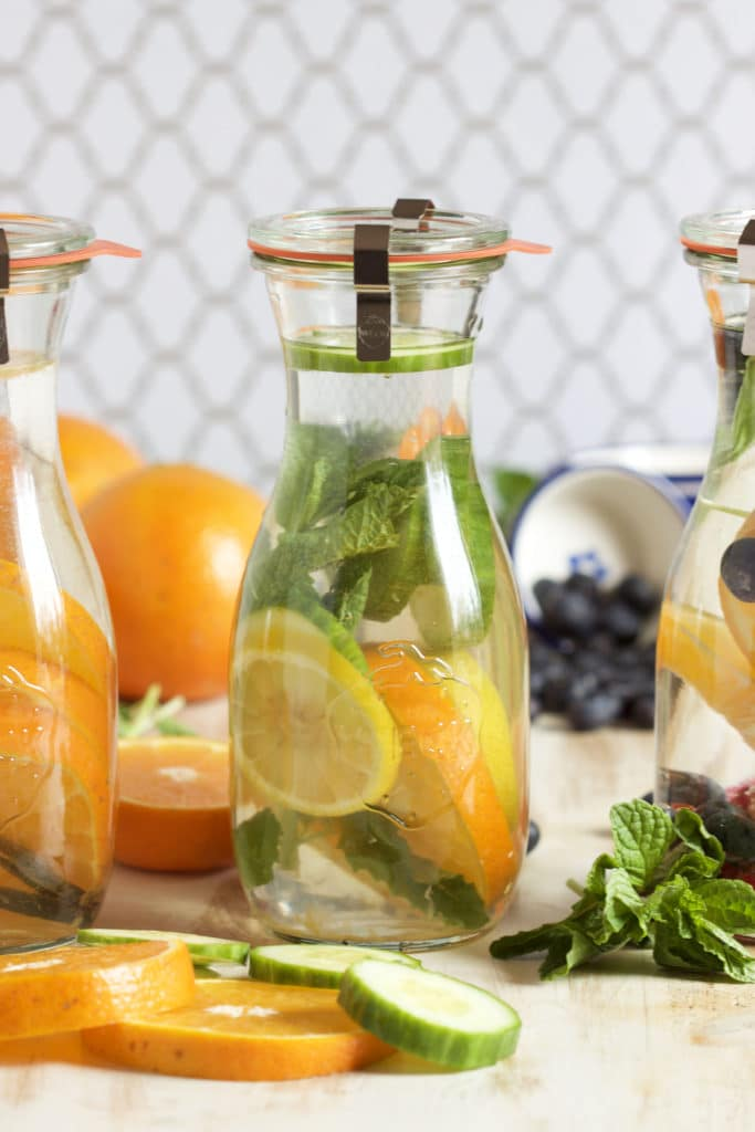 Super easy Fruit Infused Water recipe to help you stay hydrated with flavor! | TheSuburbanSoapbox.com
