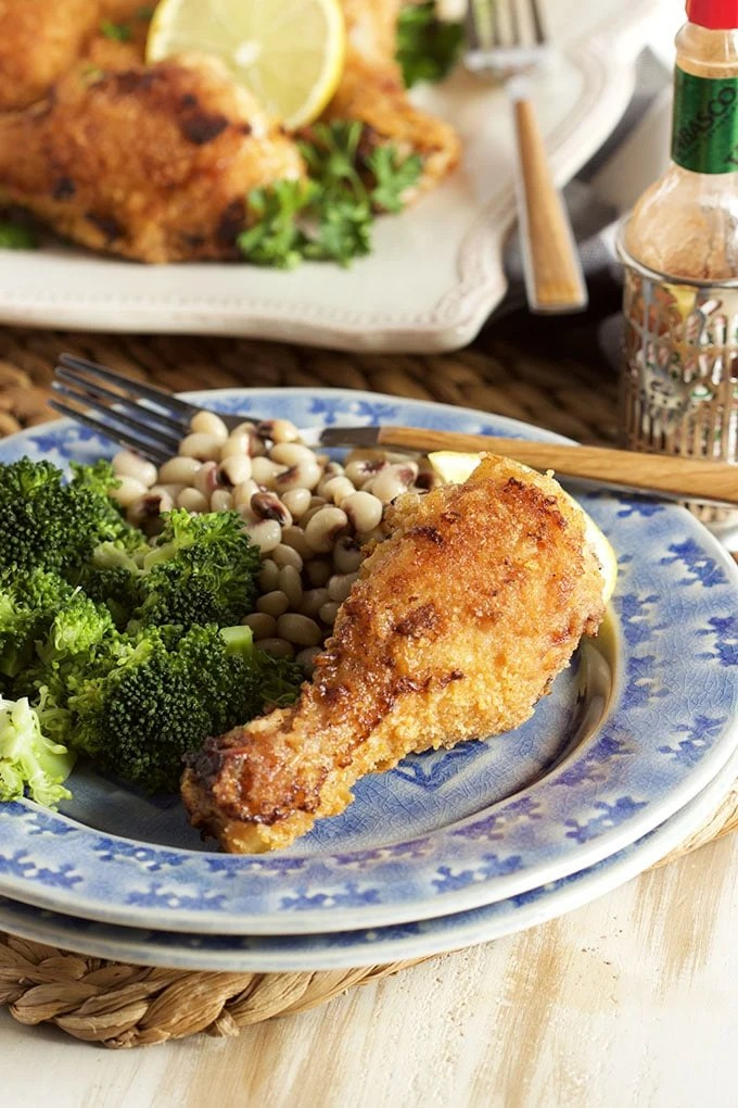 The BEST recipe for Truly Crispy Oven Fried Chicken every single time. Absolutely fool-proof! | TheSuburbanSoapbox.com