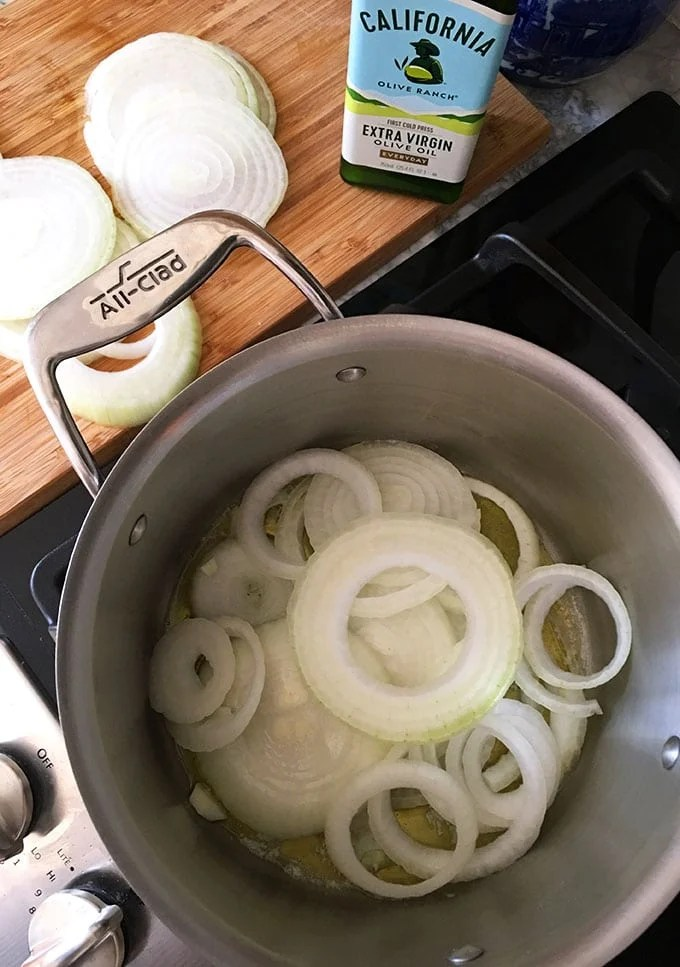 The easiest and BEST Caramelized Onion recipe ever, make ahead and freeze for busy weeknight dinners. | TheSuburbanSoapbox.com