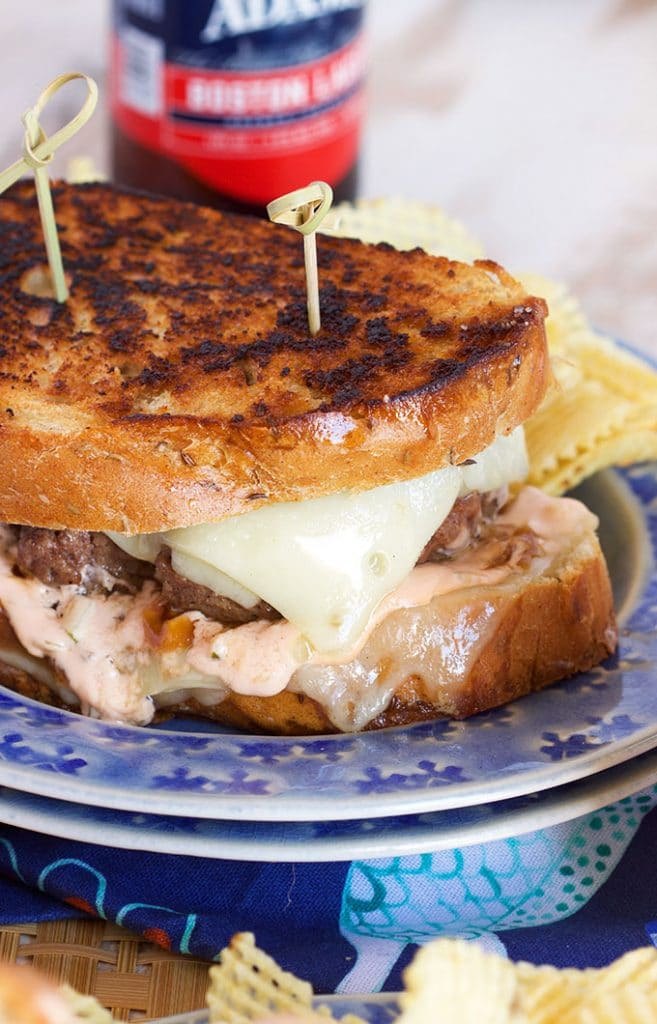 Easy and perfect, this is the Very Best Patty melt Recipe ever made. Classic comfort food. | TheSuburbanSoapbox.com