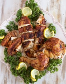 Super easy to make at home, Rotisserie Style Chicken recipe is the best you will ever have.   TheSuburbanSoapbox.com