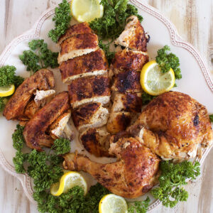 Super easy to make at home, Rotisserie Style Chicken recipe is the best you will ever have. | TheSuburbanSoapbox.com