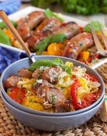 Sheet Pan Sausage and Peppers | TheSuburbanSoapbox.com recipe