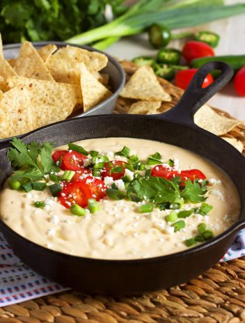 The Very Best White Queso Dip recipe is absolutely fool-proof, rich and creamy. No processed cheese here! | TheSuburbanSoapbox.com