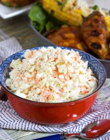 Super easy Classic Cole Slaw recipe is better than KFC! So simple to make and ready in minutes. | TheSuburbanSoapbox.com