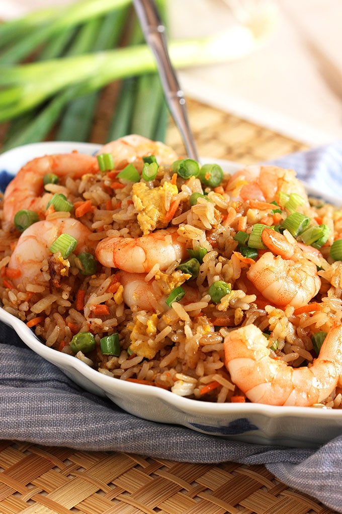 Easy Shrimp Fried Rice Recipe | TheSuburbanSoapbox.com