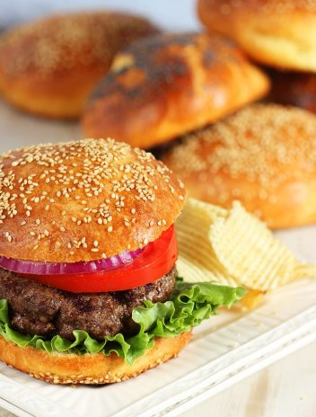 Buttery and perfect, these easy Brioche Hamburger Buns recipe is the BEST you'll ever have. | Thesuburbansoapbox.com