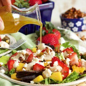 Strawberry Mango Chicken Salad | TheSuburbanSoapbox.com