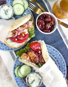 Grilled Chicken Gyro Recipe with Tzatziki Sauce | TheSuburbanSoapbox.com