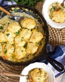 Chicken and Dumpling Skillet Casserole Recipe | TheSuburbanSoapbox.com