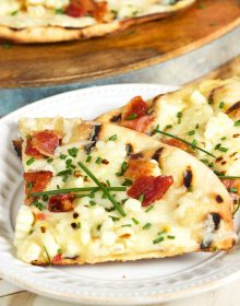 Grilled Corn Pizza with Bacon and Chives | TheSuburbanSoapbox.com