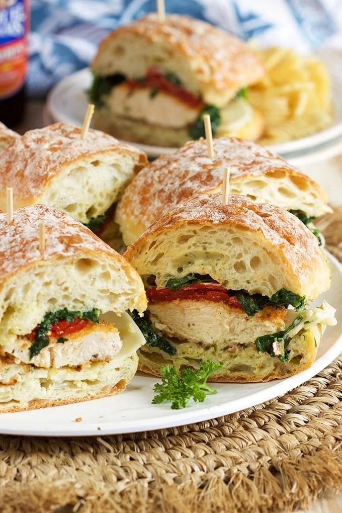 Italian Chicken Cutlet Sandwiches   TheSuburbanSoapbox.com