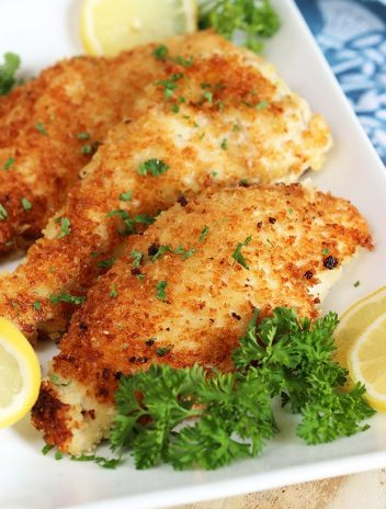 Easy Parmesan Crusted Chicken Cutlets | TheSuburbanSoapbox.com