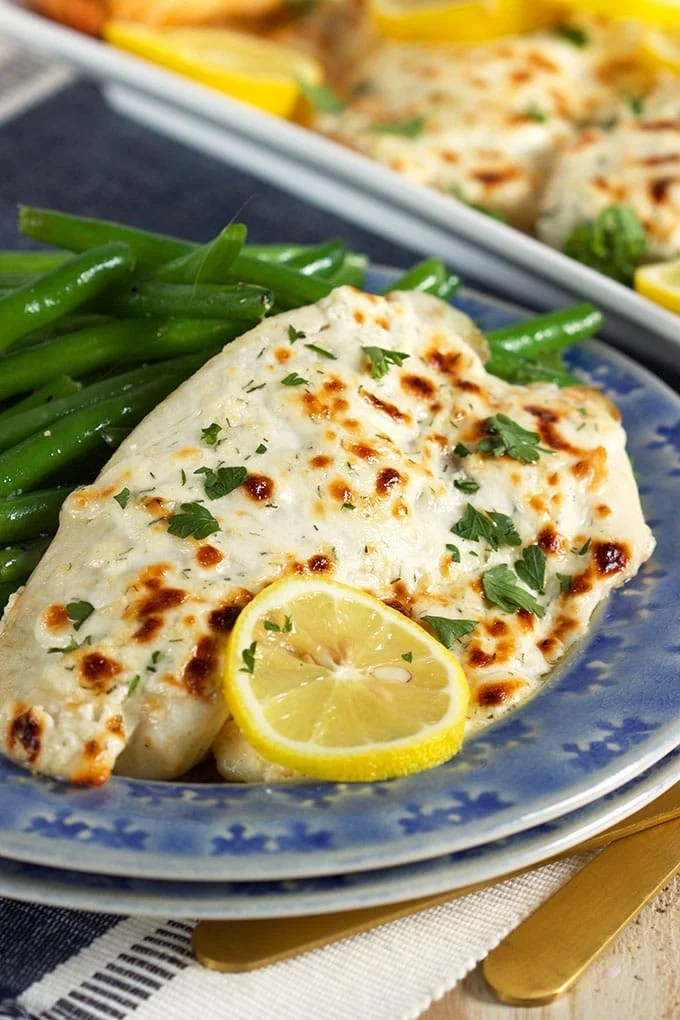 Flaky Parmesan Tilapia | TheSuburbanSoapbox.com #TrimHealthyTable