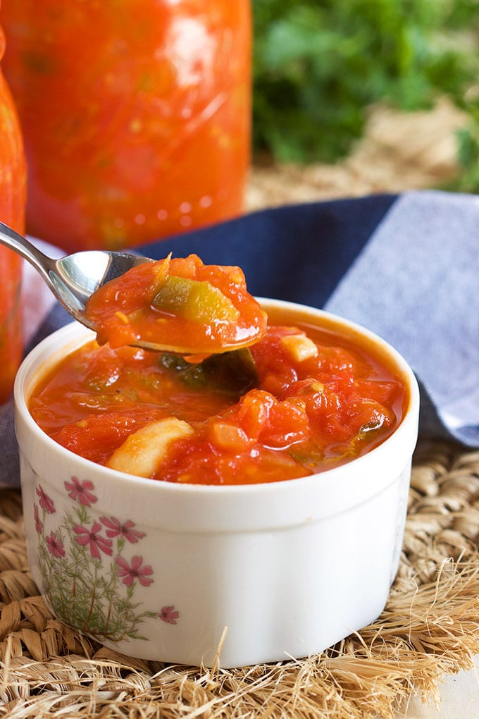 How to Make Italian Style Stewed Tomatoes | TheSuburbanSoapbox.com