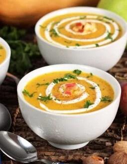 Apple Butternut Squash Soup | TheSuburbanSoapbox.com