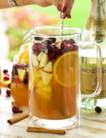 Sparkling Apple Cider Sangria | TheSuburbanSoapbox.com